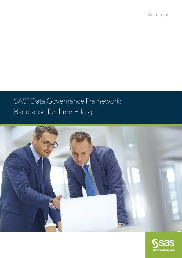 SAS® Data Governance Framework