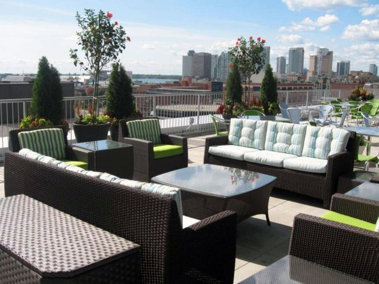 Terrace lounge at SAS Toronto Canada campus