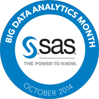 SAS Big Data Analytics Month 2014 Logo