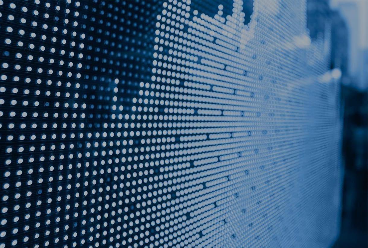 Digital graph on large screen display