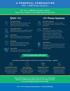 A Powerful Combination: SAS® + IBM Power Systems
