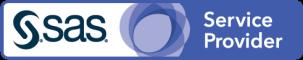SAS Service Provider badge art, horizontal format, white background