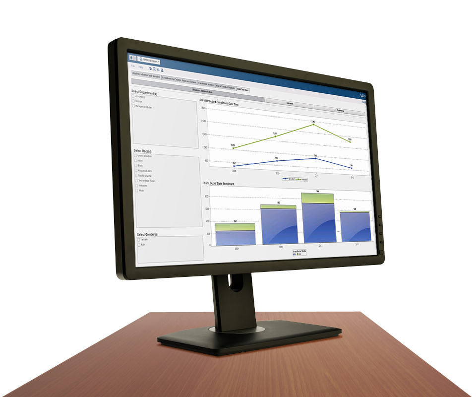 Enterprise Analytics for Education Screenshot on Desktop Monitor