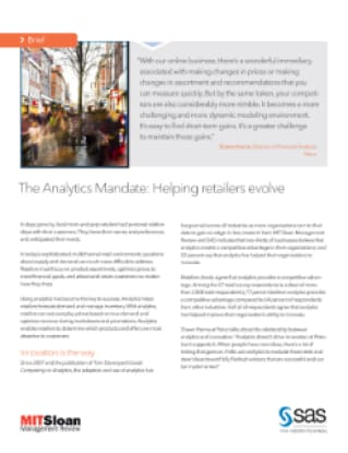 The Analytics Mandate: Helping Retailers Evolve