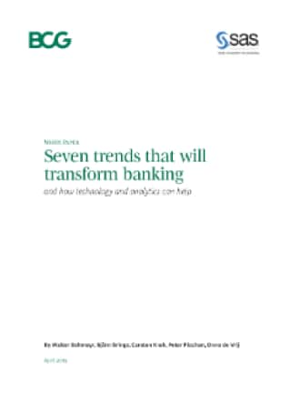 Seven trends that will transform banking