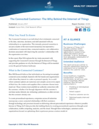 The Connected Customer: The Why Behind the Internet of Things