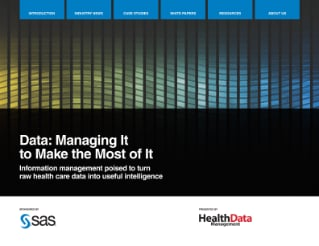 Data: Managing It to Make the Most of It