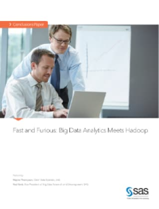 Fast and Furious: Big Data Analytics Meets Hadoop