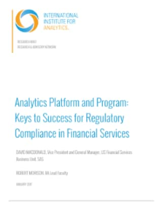 Analytics Platform and Program: Keys to Success for Regulatory Compliance in Financial Services