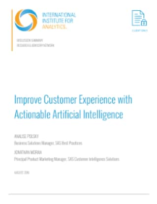 Improve Customer Experience with Actionable Artificial Intelligence