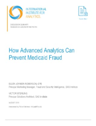 How Advanced Analytics Can Prevent Medicaid Fraud