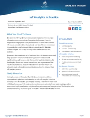 IoT Analytics in Practice