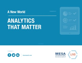 Analytics That Matter: A New World