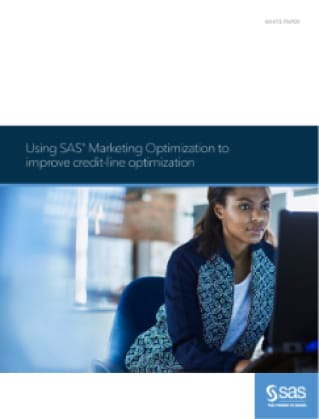 Using SAS Marketing Optimization to improve credit-line optimization