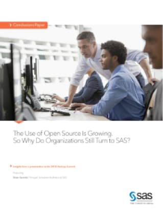 The Use of Open Source is Growing. So Why Do Organizations Still Turn to SAS?