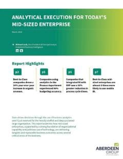 Analytical Execution for Today's Mid-Sized Enterprise