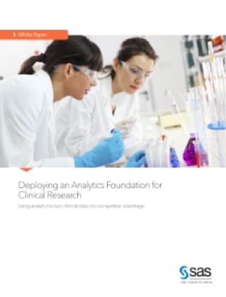 Deploying an Analytics Foundation for Clinical Research