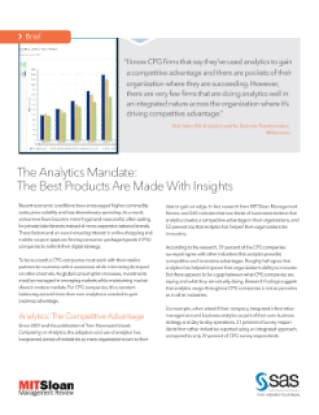 The Analytics Mandate: The Best Products Are Made With Insights