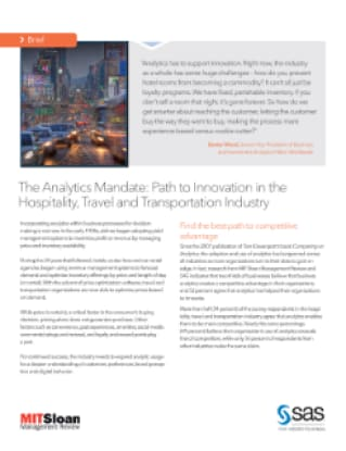 The Analytics Mandate: Path to Innovation in the Hospitality, Travel and Transportation Industry