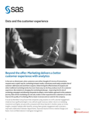 Data and the customer experience