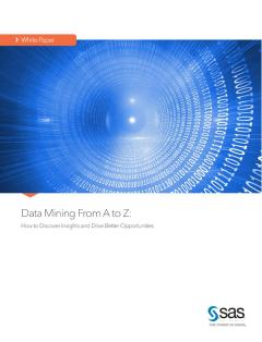 Data Mining From A to Z