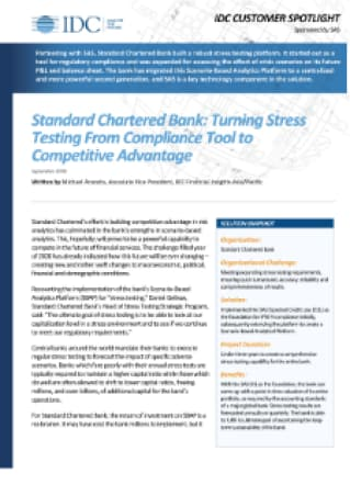 Standard Chartered Bank: Turning Stress Testing from Compliance Tool to Competitive Advantage