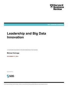 Leadership and Big Data Innovation