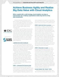 Achieve Business Agility and Realize Big Data Value with Cloud Analytics