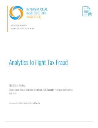 Analytics to Fight Tax Fraud