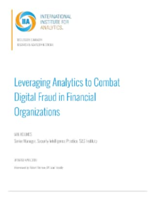 Leveraging Analytics to Combat Digital Fraud in Financial Organizations