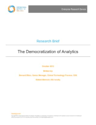 The Democratization of Analytics