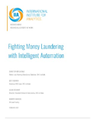 Fighting Money Laundering with Intelligent Automation