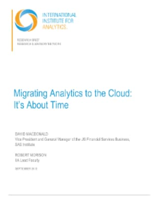Migrating Analytics to the Cloud: It's About Time
