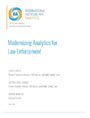 Modernizing Analytics for Law Enforcement