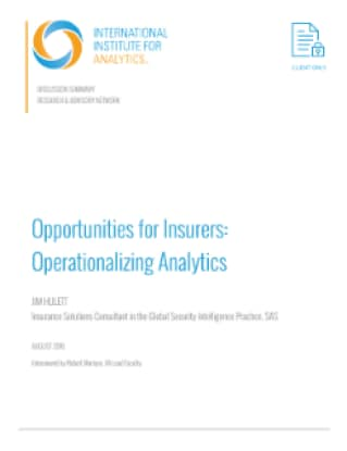 Opportunities for Insurers: Operationalizing Analytics