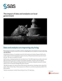 The impact of data and analytics on local government