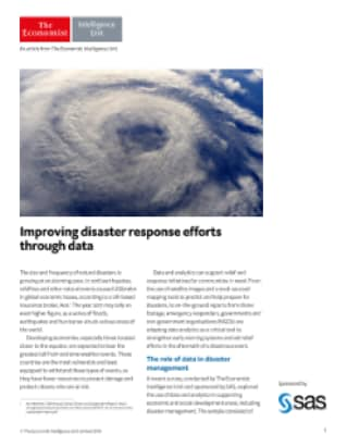 Improving disaster response efforts through data