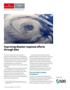 Improving disaster response efforts through data