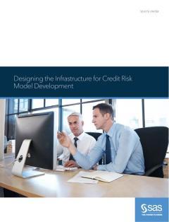 Designing the Infrastructure for Credit Risk Model Development