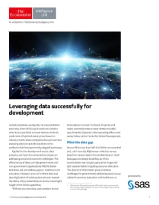 Leveraging data successfully for development