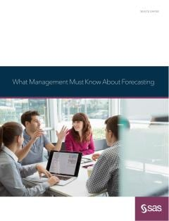 What Management Must Know About Forecasting