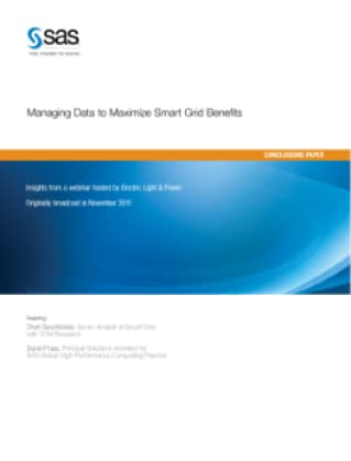 Managing Data to Maximize Smart Grid Benefits