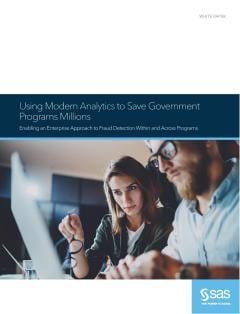 Using Modern Analytics to Save Government Programs Millions