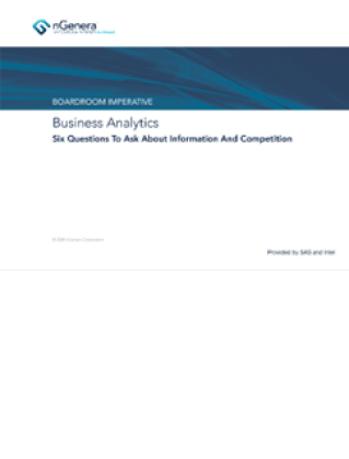 Business Analytics -- Six Questions to Ask About Information and Competition