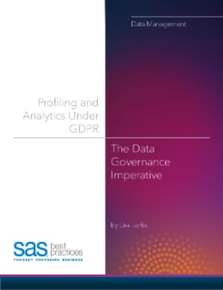 Profiling and Analytics under GDPR: Staying on the Right Side of the Regulation with Data Governance