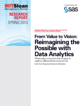 From Value to Vision: Reimagining the Possible with Data Analytics