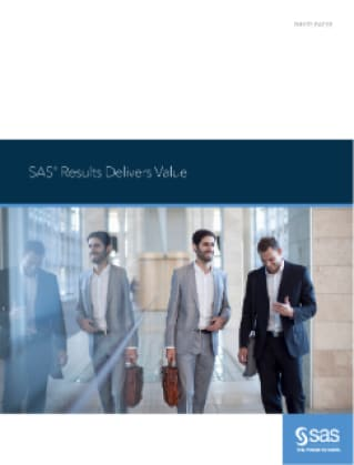 SAS® Results Delivers Value