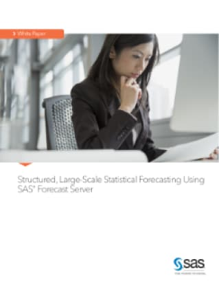 Structured, Large-Scale Statistical Forecasting Using SAS® Forecast Server