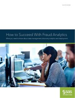 How to Succeed With Fraud Analytics