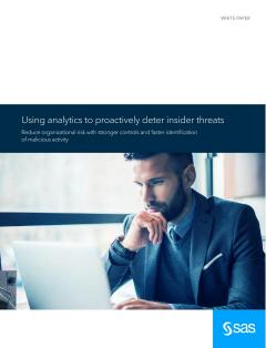 Using Analytics to Proactively Deter Insider Threats